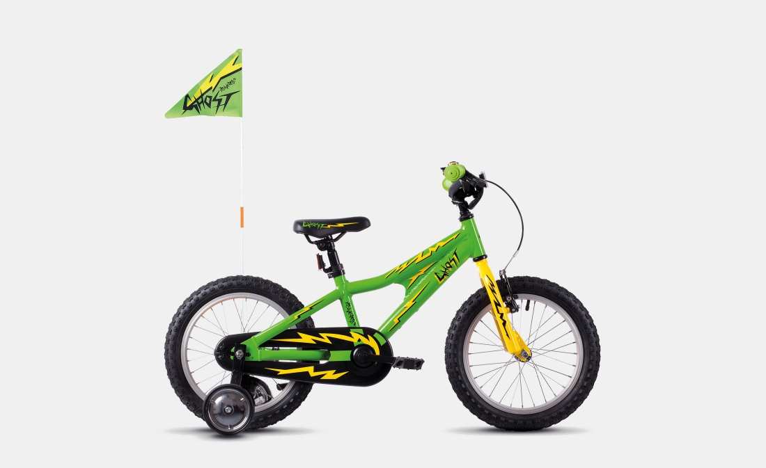 Ghost Powerkid 16 - Green / Yellow